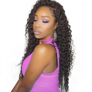 Deep Wave 360 Lace Frontal Closure Brazilian Virgin Hair Lace Frontal Natural Hairline 22*4*2