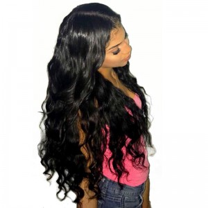 360 Lace Frontal Wigs 150% Density Brazilian Loose Wave Full Lace Front Human Hair Wigs Natural Hairline