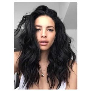 Natural Color Unprocesseed Peruvian Virgin Human Hair Natural Wave Full Lace Wigs