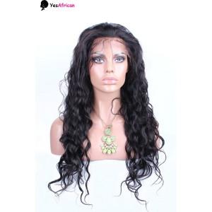 Natural Color Ciara Celebrity Water Wave Full Lace Wig Brazilian Virgin Human Hair