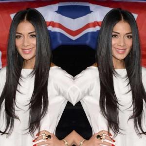 Nicole Scherzinger Celebrity Lace Wig Natural Color Silk Straight Lace Wigs