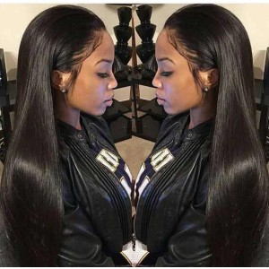 Natural Color Unprocessed Indian Remy 100% Human Hair Silk Straight Full Lace Wigs