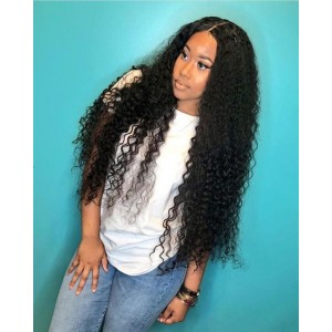 13x6 Curly Lace Front Human Hair Wigs 150% Density Pre Plucked With Baby Hair Brazilian Virgin