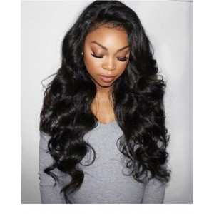 250% Density Full Lace Human Hair Wigs Brazilian Body Wave Lace Front Wigs With Baby Hair