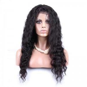 Natural Color Brazilian Virgin Human Hair Wigs Deep Wave Silk Top Lace Wigs