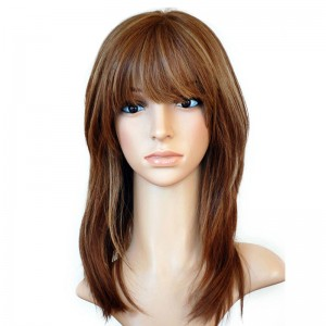 Pure Color Silky Straight European Virgin Hair Silk Top Full Lace Wigs Jewish wigs