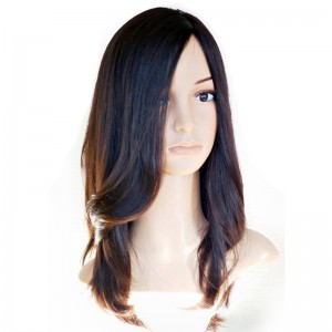 Medium Brown Silky Straight European Virgin Hair Silk Top Full Lace Jewish Wigs