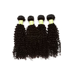 Mongolian Virgin Human Hair Extensions Weave Kinky Curly 4 Bundles Natural Color