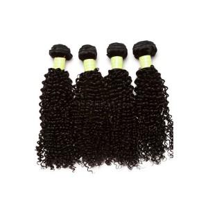 Mongolian Virgin Human Hair Extensions Weave Kinky Curly 4 Bundles Natural Color