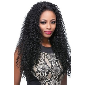 Natural Color Kinky Curly Brazilian Virgin Hair U Part Wigs