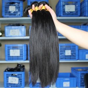 Silk Straight Unprocessed Mongolian Virgin Human Hair 3 Bundles Natural Color