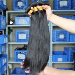 Indian Virgin Hair Natural Color Silk Straight Hair Weave 3 Bundles