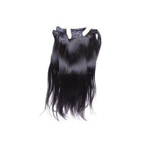 Natural Color Silky Straight Brazilian Virgin Hair Clip In Human Hair Extensions
