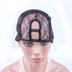 U Part Wig Caps For Making Wigs Stretch Lace Weaving Cap Adjustable Straps Back 5Pcs/Lot