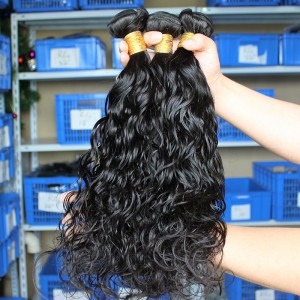 Indian Virgin Human Hair Extensions Wet Wave Hair 4 Bundles Natural Color