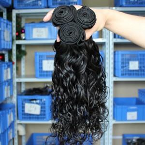 European Virgin Human Hair Water Wave Hair Weave Natural Color 3 Bundles