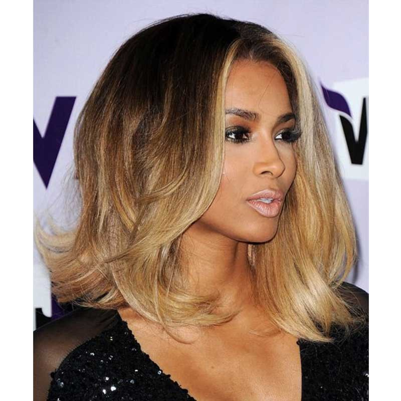 Ciara inspired ombre blonde color wavy short bob lace front human ciara inspired ombre blonde color wavy short bob lace front human hair wigs solutioingenieria Choice Image