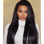 250% Density Pre-Plucked Brazilian Straight Lace Front Human Hair Wigs With Baby Hair Natural HairLine