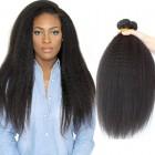 Brazilian Virgin Hair Italian Yaki Human Hair Weaves 3Bundles Natural Color