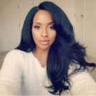 Italian Yaki Straight Full Lace Human Hair Wigs 130% Density Pre Plucked