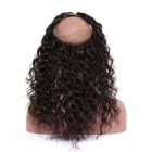 Brazilian Loose Wave 360 Lace Frontal Closure 120 Density Pre Plucked With Baby Hair Bleached Knots