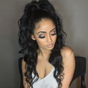 Natural Color 100% Brazilian Virgin Human Hair Wig Loose Wave Lace Front Wigs