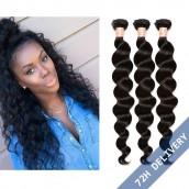 8A Brazilian Loose Wave Human Virgin Hair Bundles 3Pcs Hair Weave Extensions