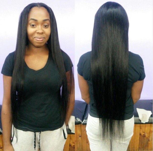 Natural Color Silk Straight Brazilian Virgin Human Hair Weave 3 Bundles
