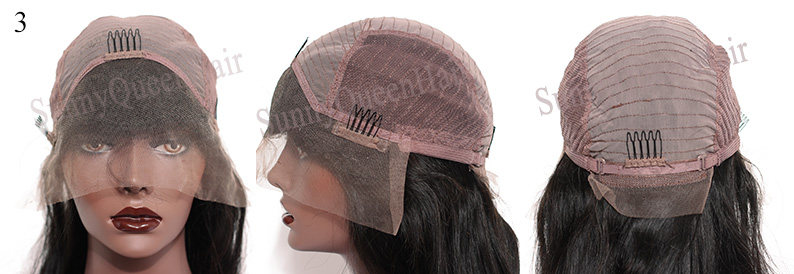 SunnyQueenHair.com full lace wig cap,Full Lace with Stretch from ear to ear,cap3