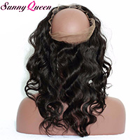 360 Lace Band Body Wave Brazilian Virgin Hair Lace Frontals Natural Hairline